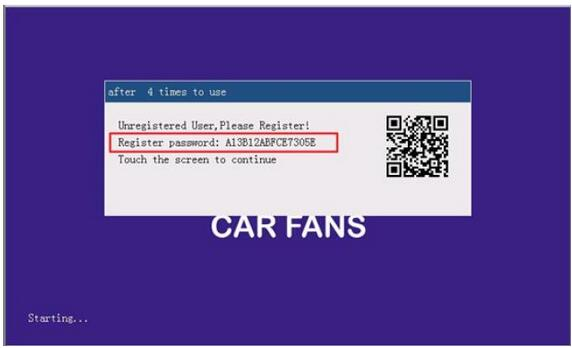 How to Register and Active CAR Kar FANS C800+ Diagnosis-2